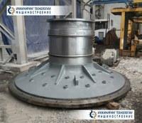 Стенка торцевая мельницы d1400 черт. № 2-1429730